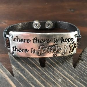 Jewelry - Where There is hope there is Faith Bracelet